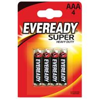 Eveready Super Heavy Duty Batteries AAA    RO3B4UP