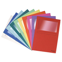 Forever Window File A4 Assorted Pk 100 50100E