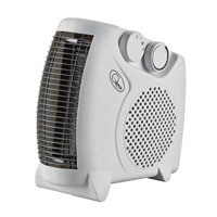 2kW Flat Fan Heater White CRHFF06/H