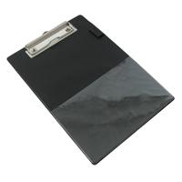 Rapesco Standard Clipboard A5. Pen holder. Rigid PVC covered board. Black.