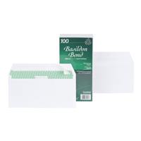 Basildon Bond Envelope DL Peel and Seal 100gsm White F80275 Pack of 100