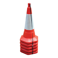 JSP Standard One Piece Cone 750mm Pk 5 Red JAA060-220-615