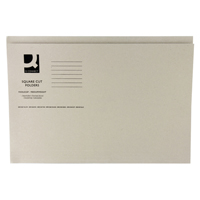 Q-Connect Square Cut Folder Medium-Weight 250gsm Foolscap Buff    KF01190
