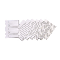 Q-Connect Index A4 Multi-Punched A-Z 20-Part Polypropylene White KF01351