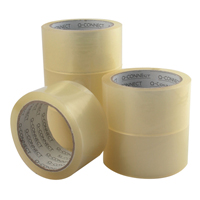 Q-Connect Low Noise Polypropylene Packaging Tape 50mm x 66m Clear KF04382