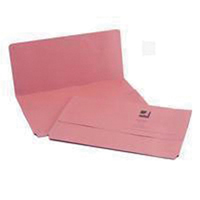 Q-Connect Document Wallet 285gsm Foolscap Pink    KF23015