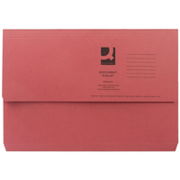 Q-Connect Document Wallet 285gsm Foolscap Red    KF23016