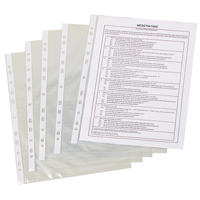 Q CONNECT PUNCHED POCKETS A4 (pk 100) - ORDER 5 OR MORE FOR BULK DISCOUNT!!