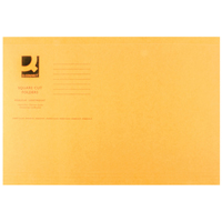 Q-Connect Square Cut Folder Light-Weight 180gsm Foolscap Orange    KF26030