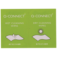 Q-Connect Wet and Dry Wipes Pk 20 KF32148