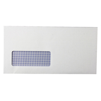 Q-Connect Envelope DL Window 80gsm Self Seal White Pk 1000 KF3455