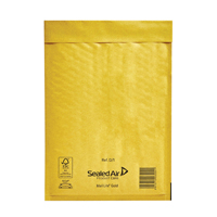 Mail Lite Bubble Lined Size D/1 180x260mm Gold Postal Bag (Pack of 10) 103027477