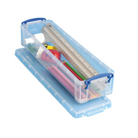 Really Useful Pencil/Stationery Box 1.5L Clear 1.5C