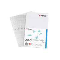 Rexel Budget Pocket A4 Clear   11000