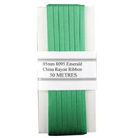 China Ribbon Rayon Green Card 5mm x 50m 8095005EME00