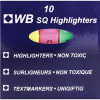 HiGlo Highlighter Assorted Pk 10 WX16351A